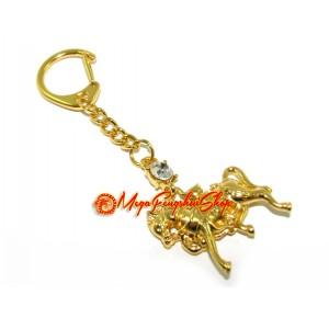 Golden Feng Shui Windhorse Keychain