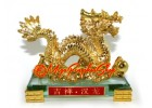 Golden Imperial Fengshui Dragon Statue