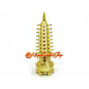 Golden Nine Level Education Tower Pagoda