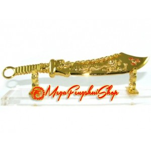 Golden Nine Rings Dragon Sword