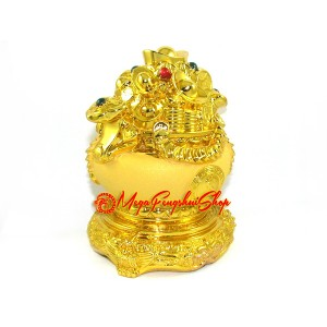 Golden Overflowing Feng Shui Wealth Pot for Abundance