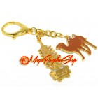Golden Pagoda with Camel Keychain
