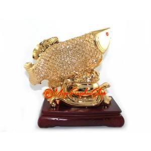 Golden Prosperity Feng Shui Arowana (L)