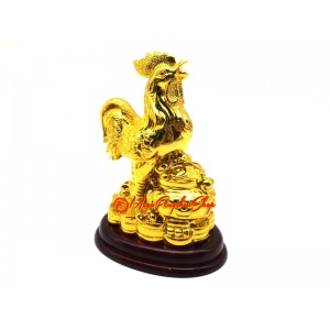 Golden Rooster with Wealth Pot