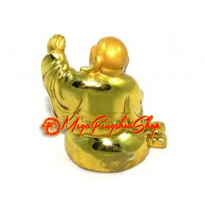 Golden Six Mini Laughing Buddhas Set