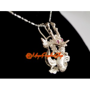 Good Fortune Dragon Feng Shui Pendant (925 Silver)