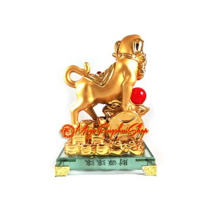 Good Fortune Golden Dog with Coins