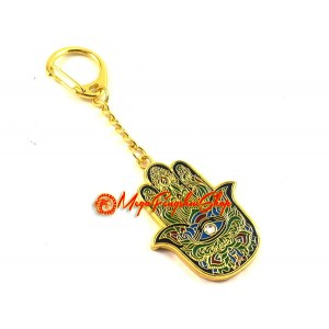 Hamsa Hand Feng Shui Keychain