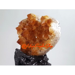 Heart Shape Crystal Plate - Citrine