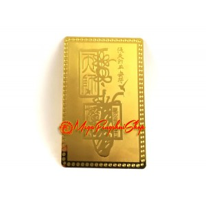 Heavenly Master Zhang Taoist Deity Amulet Metal Card