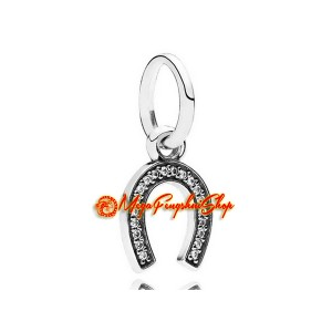 Horseshoe Lucky Dangle Pendant Charm (925 Silver)