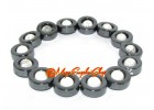 Howlite Bead in Hematite Ring Bracelet