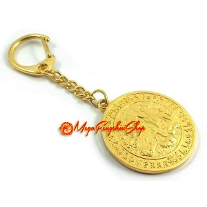 Increase Life Force Medallion Feng Shui Keychain