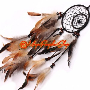 Indian-style Dreamcatcher With Feathers