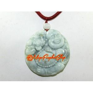 Jade Laughing Buddha Pendant (High Grade)
