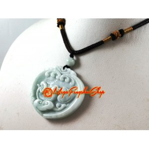 Jade Mandarin Ducks with Ruyi Pendant