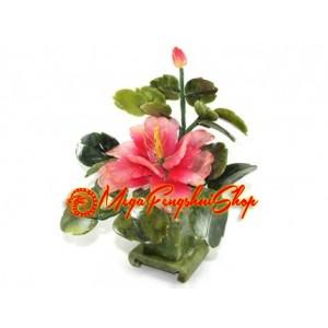 Feng Shui Jade Peony Flower Plant