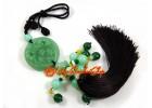 Jadeite Feng Shui Piyao Biting Coin Tassel