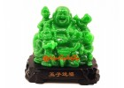 Jadeite Laughing Buddha with Five Kids