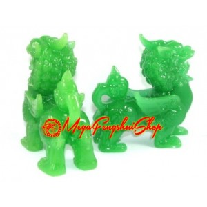 Jadeite Pair of Feng Shui Pi Yao