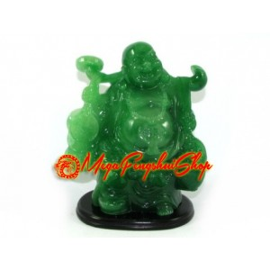 Jadeite Travelling Laughing Buddha
