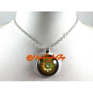 Kalachakra Mandala Chakra Pendant Necklace