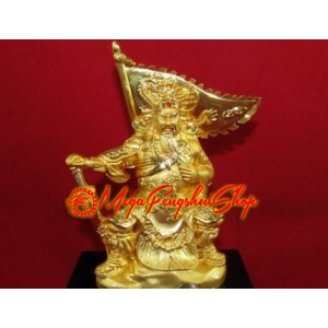 Kwan Kung with Victory Flag Refillable Air Freshener