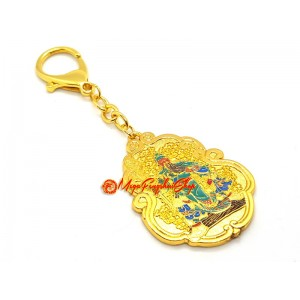Kwan Kung with Anti Burglary Amulet Keychain