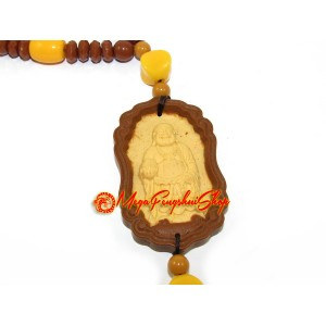 Laughing Budda Amulet with Beaded Tassel