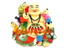 Laughing Buddha with Kids and Dragon Ru Yi
