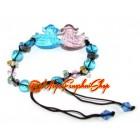 Liuli Pair of Feng Shui Mandarin Ducks Bracelet