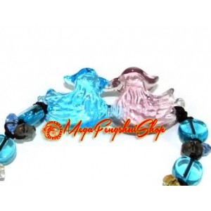 Liuli Pair of Feng Shui Mandarin Ducks Bracelet