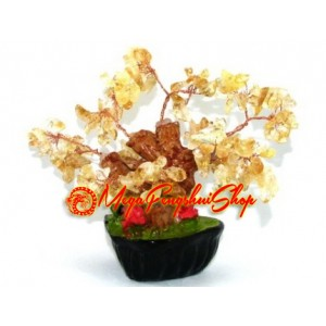 Mini Bonsai Citrine Crystal Wealth Inviting Tree