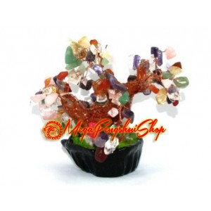 Mini Mixed Crystal Feng Shui Gem Tree