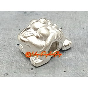 Money Frog Bead Charm - 999 Silver