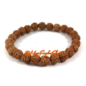 Natural Rudraksha Beads Bracelet