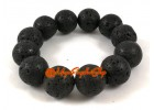 Natural Volcanic Black Lava Rock Bracelet