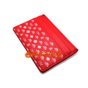 Om Card Holder - Red
