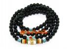 Om Mani Padme Hum Onyx Crystal Necklace/Bracelet