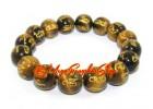 Om Mani Padme Hum Tiger Eye Crystal Bracelet