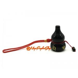 Om Mani Padme Hum Wu Lou Amulet (Obsidian)