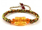 Om Mani Padme Hum Yellow Crystal Bracelet (Adjustable)