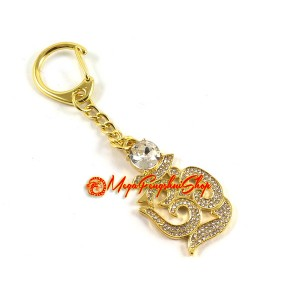 Bejewelled Om Syllable Keychain