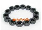Onyx Bead in Hematite Ring Bracelet