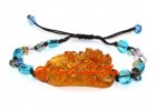 Orange Liuli Piyao Feng Shui Adjustable Bracelet