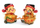 Pair of Adorable Wealth Gods for Prosperity