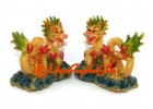 Pair of Colorful Feng Shui Dragons