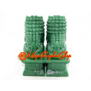 Pair of Feng Shui Fu Dogs (Green)
