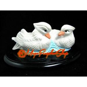 Pair of Feng Shui White Mandarin Ducks