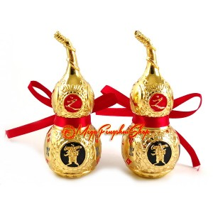 Pair of Golden Feng Shui Bagua Wulou (L)